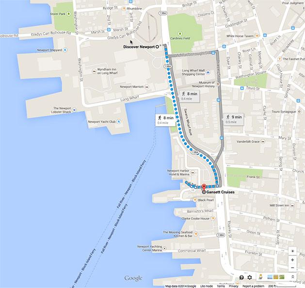 Gansett Cruises Google map - Gansett Cruises
